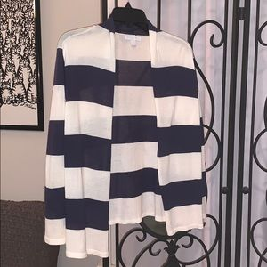Navy striped cardigan